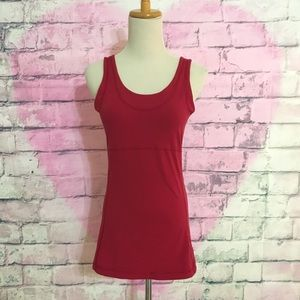 Lucy athletics deep red workout tank top